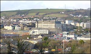 View of Carmarthen