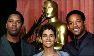 Nominees Denzel Washington, Halle Berry and Will Smith