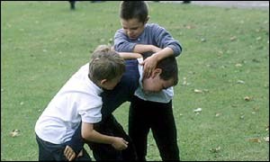 Children fighting