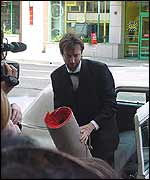 Tom Green arriving at the Razzies