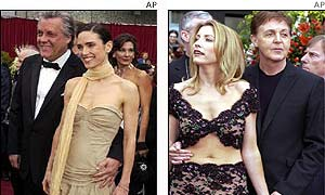 Jennifer Connelly and Heather Mills and Paul McCartney