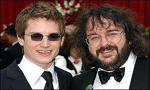 Elijah Wood and Peter Jackson