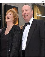 Dame Maggie Smith and Julian Fellowes