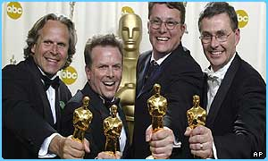 Lord of the Rings won four technical awards
