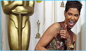 Halle Berry after winning the best actress Oscar