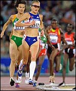 Paula Radcliffe in action in the 10,000m in Sydney 2000