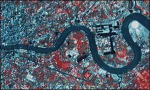 Satellite image of central London, PA/Spot Image