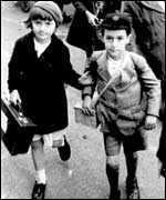 British children being evacuated from the cities