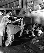 A British Ford factory during the war