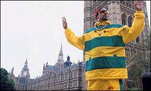 Ali g fills the big screen with his larger than life personality