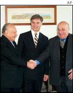 The Greek and Turkish Cypriot leaders