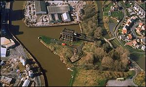 Aerial view of Anderton Boat lift
