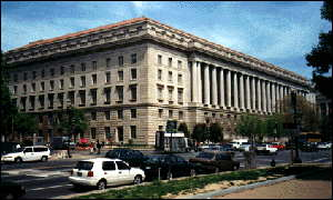 The Internal Revenue Service building in Washington, DC