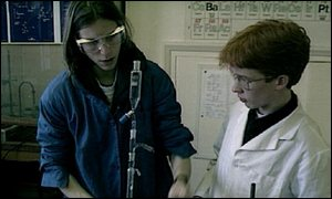children in science lesson