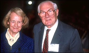 Lord Callaghan with his wife Audrey.