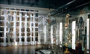The Benin bronzes on display at the British Museum