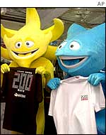 Official World Cup mascots in Tokyo