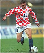 Croatia striker Alen Boksic