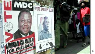 Zimbabwe elections posters