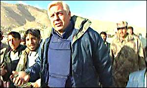 John Simpson marching into Kabul