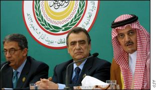Arab league chief, Lebanese FM and Saudi FM at summit