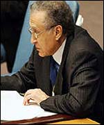 UN special representative for Afghanistan Lakhdar Brahimi