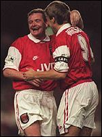 [ image: Paul Merson (right) Quit Boro to