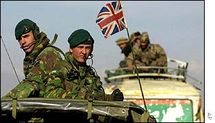 Royal Marines arrive in Afghanistan