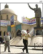 Statue of Saddam Hussein in Baghdad
