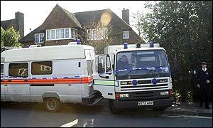 Police at Amanda's house in Walton, Surrey