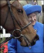 The Queen Mother was a regular face at horse racing meetings