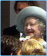 The Queen Mother on her birthday