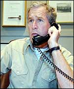 Bush discussing Mideast crisis by phone