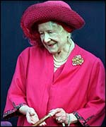 Queen Mother at her 99th birthday celebrations