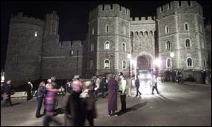 Windsor Castle was a focal point for many mourners