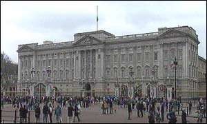 Buckingham Palace on Sunday morning