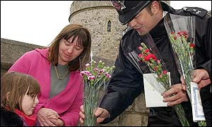 A constant stream of people have left flowers at Windsor