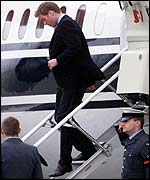 Prince William at RAF Northolt