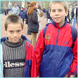 Matthew and Ben, 10, Nuneaton thought the Queen Mother was a kind and lovely lady