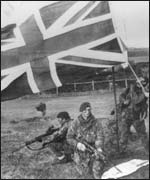 British troops on Falklands