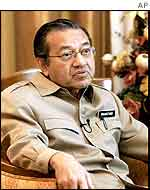 Malaysian Prime Minister Mahathir Mohammed