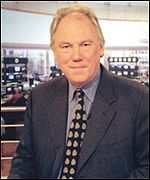 Peter Sissons hosted the BBC's coverage