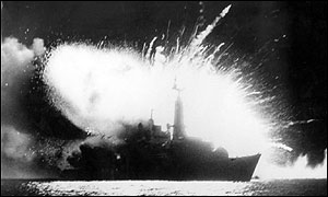 The destruction of HMS Antelope