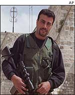 Palestinian fighter in Bethlehem