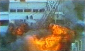 Argentine bomb attack on the British troop ship Sir Galahad, June 1982