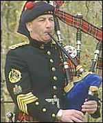 Queen's Piper Jim Motherwell