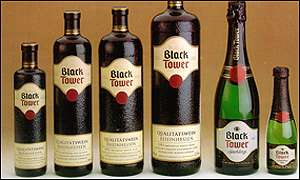 Black Tower bottles