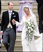 Prince Edward marries Sophie Rhys-Jones in June 1999