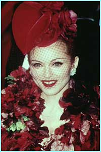 Looking glamourous at the premiere of Evita in 1996