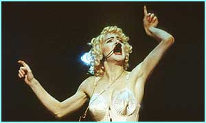 Performing in the famous Jean paul Gaultier bustier